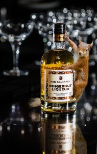 Red Squirrel on bottle